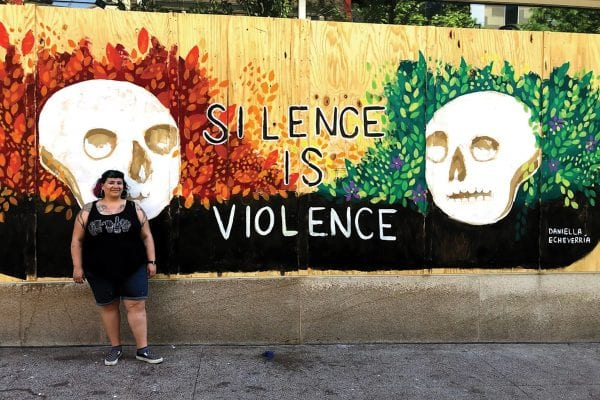 Daniella Echeverría: 'I Did NOT Paint the Mural to Make State Street Pretty or Palatable to White People' It took 8 minutes and 46 seconds for Minneapolis Police Officer Derek Chauvin to murder George Floyd on May 25. We all have witnessed the protests that followed, including in Madison.