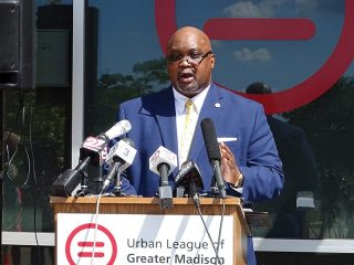 The Urban League of Greater Madison is getting in the affordable housing program once again. The local civil rights organization will spend $5 million to buy between 15 and 17 houses in economically distressed census tracts, renovate them, and sell them to low- and moderate-income families with no down payment required. Dr. Ruben L. Anthony Jr., the president and CEO of the Urban League of Greater Madison (ULGM), announced its latest initiative during a press conference held outside his offices on South Park Street on Aug. 7.