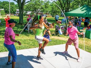 Sense of community is what Annie Weatherby-Flowers savors. It's deeply ingrained within her. That feeling of belonging and shared commitment to be together was birthed at Juneteenth celebrations in her hometown of Milwaukee.